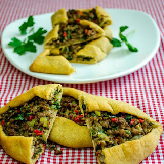 Turkish Pide with Ground Beef.