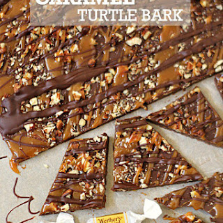 Gooey Caramel Turtle Bark Recipe