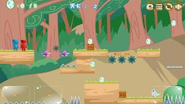 screenshot of Two Players Games:Square Bros Save Dinosaur Egg