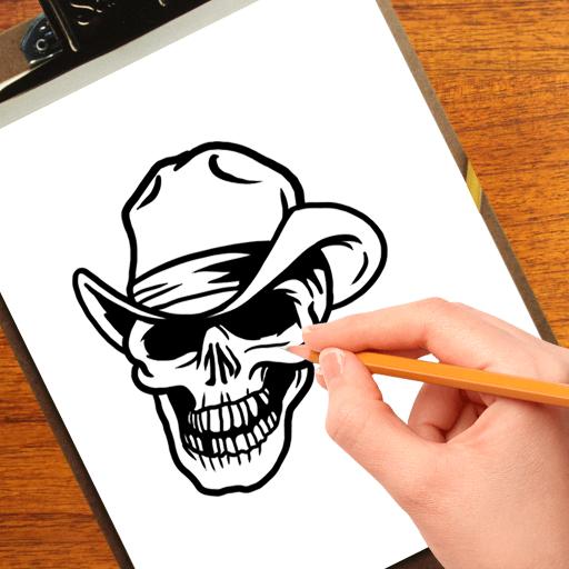 How to Draw  Skulls  Tattoo