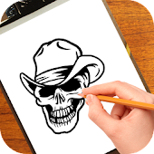 How to Draw Skulls Tattoo