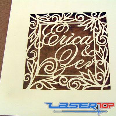 Cắt Laser Lên Giấy, Bìa, Thiệp Cưới, Thiệp 3D