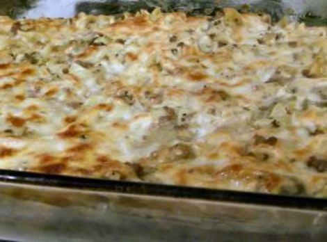 Layered Triple Cheese And Beef Casserole Recipe
