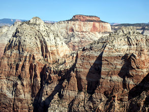 Photo: Bridge Mtn. (left) - East Temple (middle background) - G2 (right) as seen from the Watchman