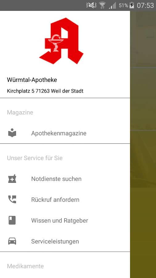 Wuermtal Apotheke- screenshot