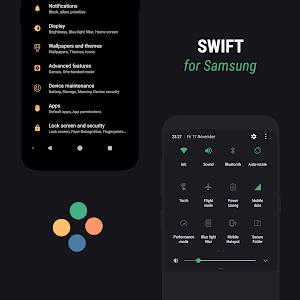 Swift for Samsung - Dark & Black Substratum Theme 8.5 (P) (Nougat)