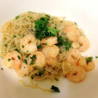 Low Carb Shrimp Scampi w/ Miracle Noodles.