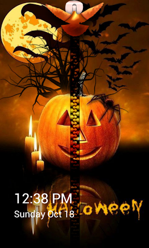 halloween zipper lock screen android app screenshot