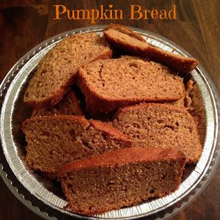 Homemade Pumpkin Bread.