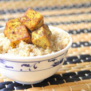 Caribbean Tofu with Coconut Quinoa.