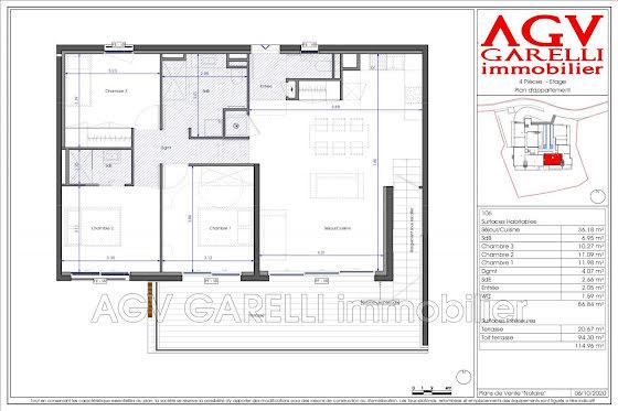 Vente appartement 4 pièces 86,84 m2