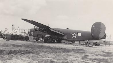 Photo: B-24 Liberator.   Ft. Myers Air Base.  Ft. Myers, FL.  Spring 1942.