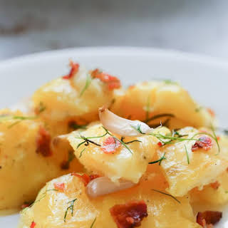 Perfect Roast Potatoes with Garlic and Rosemary.