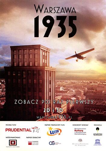 Przód ulotki filmu 'Warszawa 1935'