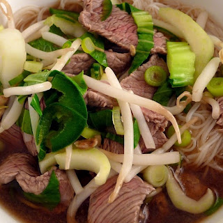 Pho Bo, Vietnamese Beef Noodle Soup.