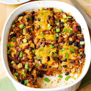 Black Bean and Beef Enchilada Casserole.