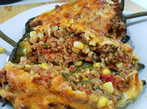 Mexican Inspired Stuffed Poblano