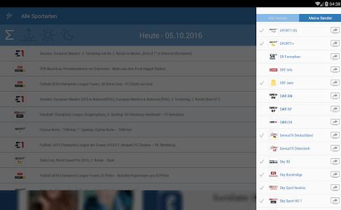 Live Sport im TV - Programm screenshot 10
