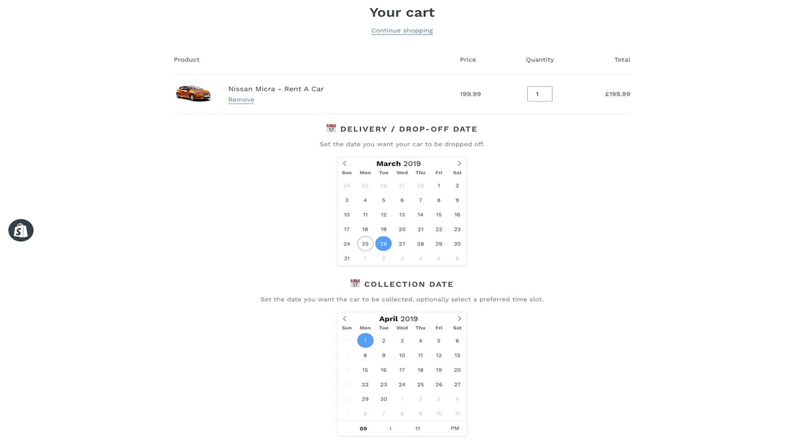 Custom Delivery Date Calendars