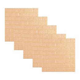 Set 5 x Tapet autoadeziv din spuma, caramizi portocalii, 77 x 70 cm