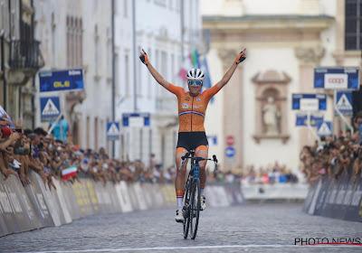 Als het in de tijdrit niet lukt dan in de wegrit: Ellen van Dijk lost met fraaie solo de favorietenrol van Nederland in