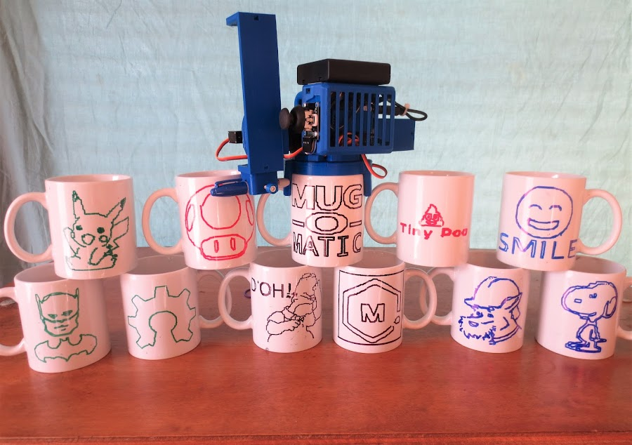 A busy day for the Mug-O-Matic