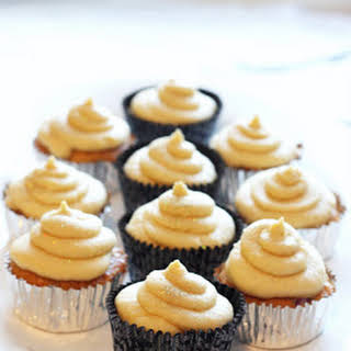 Rhubarb Cupcakes With Brown Sugar Mascarpone Frosting.
