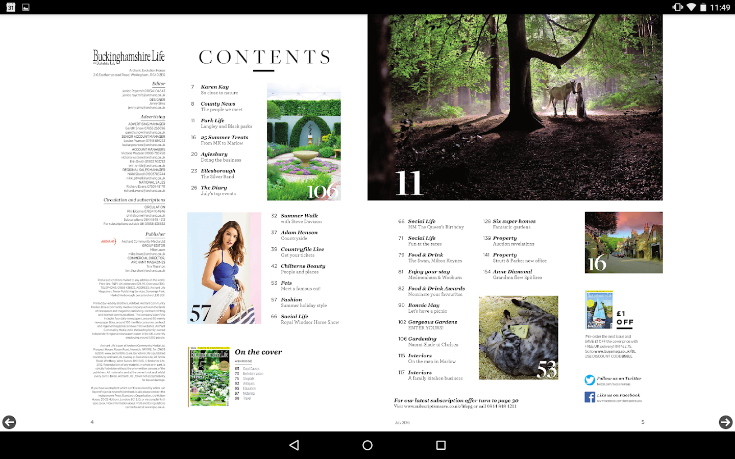 Buckinghamshire Life Magazine- screenshot