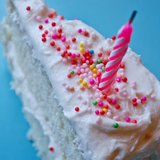Vanilla Birthday Cake with Old-Fashioned Vanilla Buttercream.