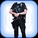 Men Police Dress Photo Suit icon