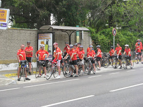 Photo: Mass ride into Gibraltar