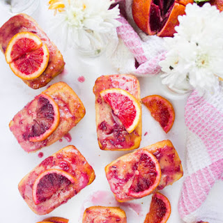 Easy Blood Orange Cakes And Glaze.