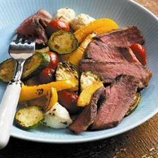 Sonoma Steaks with Vegetables Bocconicini.