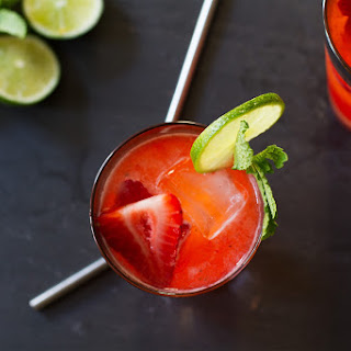 Strawberry Moscow Mule Cocktail.
