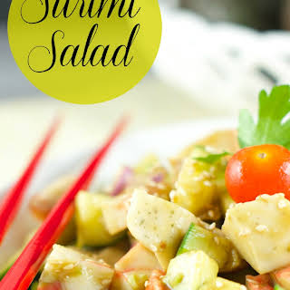 Surimi Salad With Sesame Dressing.