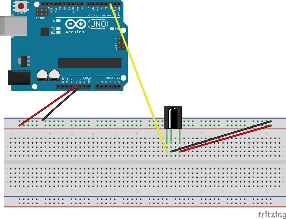 Arduino使用紅外線遙控器與接收器使LED亮起 - 高中資訊科技概論教師黃建庭的教學網站