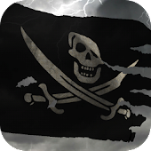3D Pirate Flag LWP +