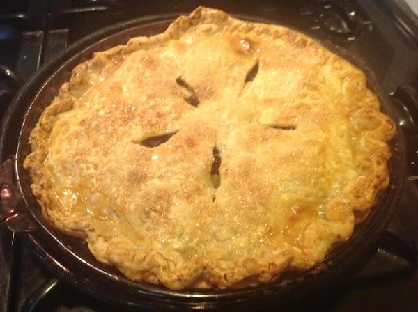 This was the pie that I made by reserving some of the apples.