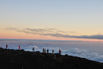 Photo: The crowds who gathered for sunrise.