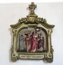 """Photo: *II. stáció: Jézus vállára veszi a keresztet  """"keresztjét hordozván kiment a Golgotára."""" (Jn 19,17)"""