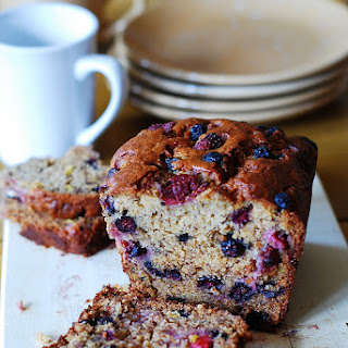 Strawberry Banana Bread, With Blueberries