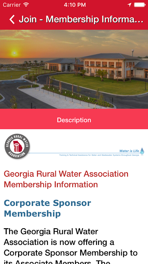 Georgia Rural Water Association- screenshot