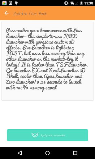 Handwrite font 3-Live Launcher