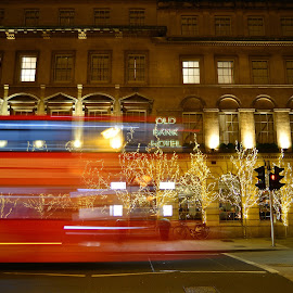 Light trails (Bus) by Tony Steele - Abstract Light Painting
