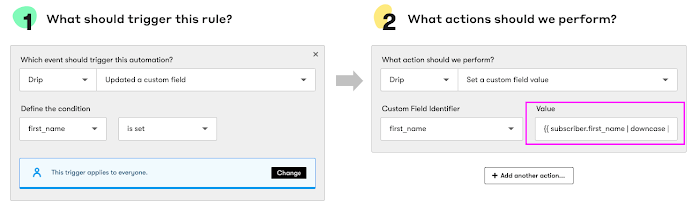 Setting up basic automated rules in Drip