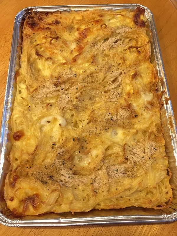Grandma Rose's Spaghetti Pie Recipe
