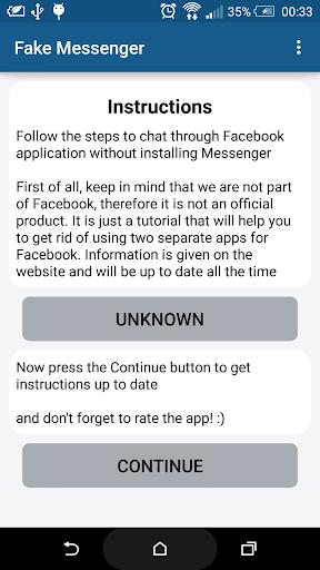 Fake for Facebook Messenger