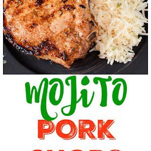 Mojito Lime Grilled Porterhouse Pork Chops