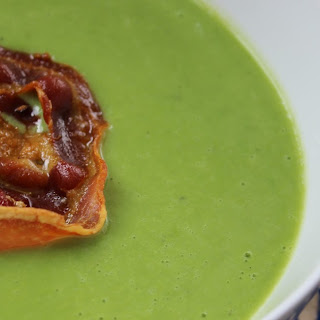 Pea Soup with Crispy Pancetta