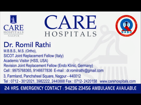 Dr  Romil Rathi   Best Orthopedic Doctor, Knee and Hip Joint
